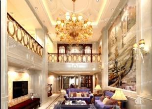 天然大理石内装,米黄石材工程,豪宅内装,别墅装饰